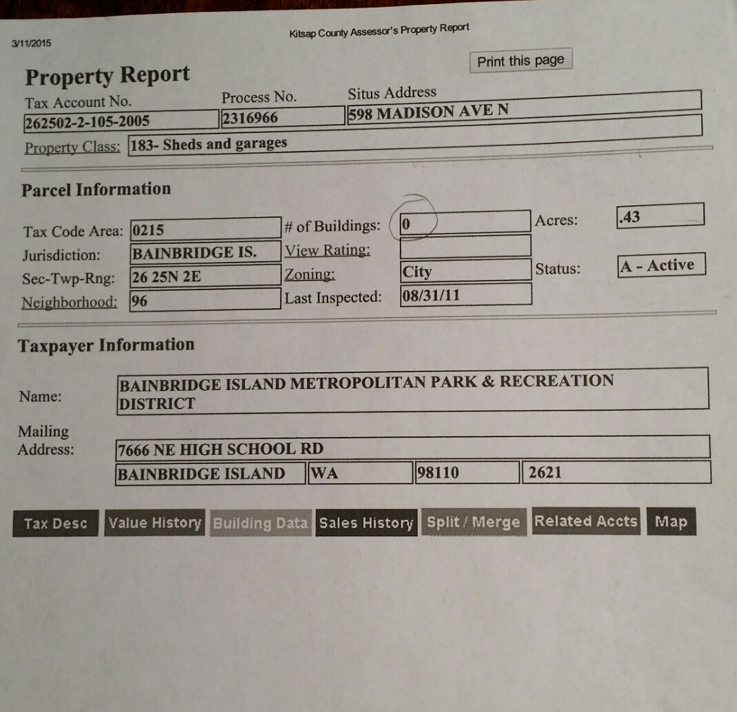 erroneous building report